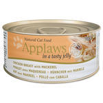 Konzerva APPLAWS Jelly Chicken & Mackerel 70g