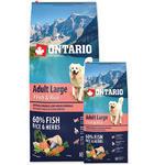 ONTARIO Adult Large Fish & Rice 12kg + 2,25kg ZDARMA + doprava ZDARMA