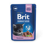 Brit Premium Cat Pouches whit fish Kitten 100g