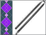 Vodítko DOG IT Geomet šedo - fialové  XL