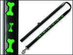 Vodítko DOG IT Reflexní černo - zelené  XL