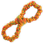 Přetahovadlo DOG FANTASY osmička barevná 25 cm 1ks