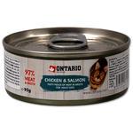 ONTARIO konzerva Chicken Pieces + Salmon 95g