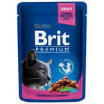 BRIT Premium Cat Chicken & Turkey kapsička 100g