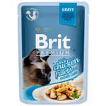 Kapsička BRIT Premium Cat Delicate Fillets in Gravy with Chicken 85g