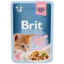 Kapsička BRIT Premium Cat Delicate Fillets in Gravy with Chicken for Kitten 85g