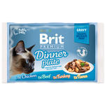 Kapsičky BRIT Premium Cat Delicate Fillets in Gravy Dinner Plate 340g