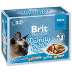 Kapsičky BRIT Premium Cat Delicate Fillets in Gravy Family Plate 1020g