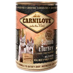 Konzerva CARNILOVE Wild Meat Salmon & Turkey for puppies 400g