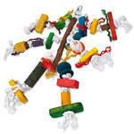 Hračka BIRD JEWEL Pletenec závěsná dřevo - provaz 40 cm