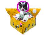 Hračka MAGIC CAT myšky v trojúhelníku 5 cm 60ks