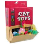 Hračky MAGIC CAT válec s pírky bavlněný 5 cm 1ks