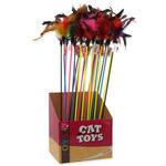 Hračka MAGIC CAT šidítko s pírky a rolničkou 17 cm + 49 cm 1ks
