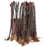 Hračka MAGIC CAT prut ocásek bavlna s pírky 42 cm + 42 cm 50ks