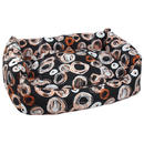 Sofa DOG FANTASY voděodolné Kroužky černo-béžové  120 x 60 cm