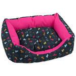 Sofa DOG FANTASY origami pes mix černo-růžové