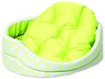 Pelech DOG FANTASY ovál s polštářem ornament zelený  84 cm