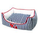 Pelech DOG FANTASY Nautica bílo-modrý pruh  60cm