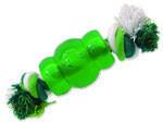 Hračka DOG FANTASY Strong Mint soudek guma s provazem zelený 6,9 cm 1ks