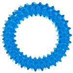 Hračka DOG FANTASY kroužek vroubkovaný modrý 7 cm 1ks