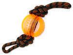 Přetahovadlo DOG FANTASY lano s míčem oranžové 35 cm 1ks