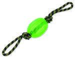 Přetahovadlo DOG FANTASY lano s míčem zelené 38 cm 1ks