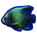 Hračka DOG FANTASY textilní ryba modrá 1ks