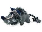 Hračka DOG FANTASY textilní vlk 1ks