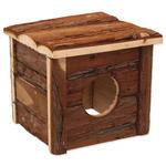 Domek SMALL ANIMAL dřevěný s kůrou 15,5 x 15,5 x 14 cm