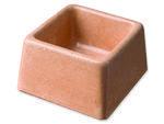 Miska BE-MI betonová čtvercová 8 x 8 cm