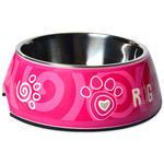 Miska ROGZ Bubble Pink Paw M 350ml