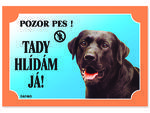Tabulka DAFIKO labradorský retriever černý 21 x 14,5 cm