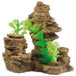 Dekorace Skála s rostlinou  14cm