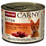 Konzerva ANIMONDA Carny Kitten hovězí, telecí + kuřecí  200g