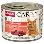 Konzerva ANIMONDA Carny Senior hovězí + krůtí srdíčka  200g
