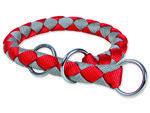 Obojek TRIXIE Cavo červeno-stříbrný  L-XL