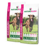 2x EUKANUBA Nature Plus+ Adult Large Breed Rich in freshly frozen Lamb 14kg