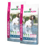 2x EUKANUBA Nature Plus+ Adult Medium Breed Rich in freshly frozen Salmon 14kg