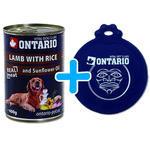 6 x ONTARIO konzerva Lamb, Rice, Sunflower Oil 400g + univerzální víčko zdarma