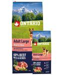ONTARIO Adult Large Beef & Rice 12kg + ONTARIO Snack Soft Chicken Jerky 70g ZDARMA + doprava ZDARMA