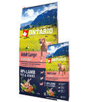 ONTARIO Adult Large Lamb & Rice & Turkey 12kg + ONTARIO Snack Soft Chicken Jerky 70g ZDARMA + doprava ZDARMA