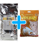 ONTARIO Adult Indoor 10kg + Kočkolit MAGIC Pearls Litter 16l