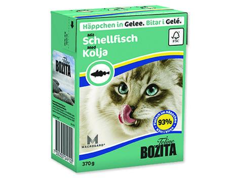 Kousky v želé BOZITA Cat s treskou - Tetra Pak 370g