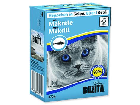 Kousky v želé BOZITA Cat s makrelou - Tetra Pak 370g