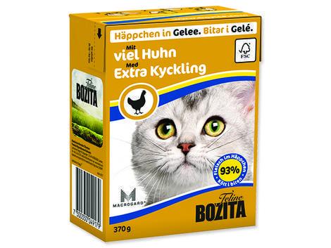 Kousky v želé BOZITA Cat s kuřecím masem - Tetra Pak 370g