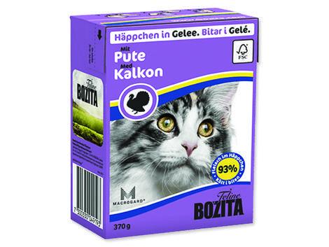 Kousky v želé BOZITA Cat s krůtím masem - Tetra Pak 370g