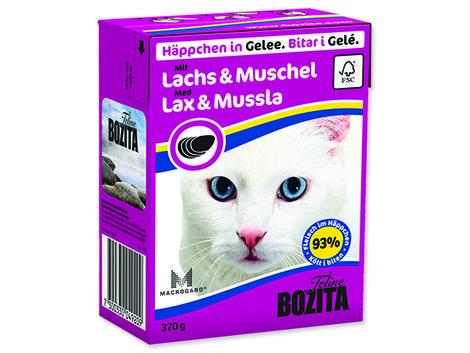 Kousky v želé BOZITA Cat losos & škeble - Tetra Pak 370g
