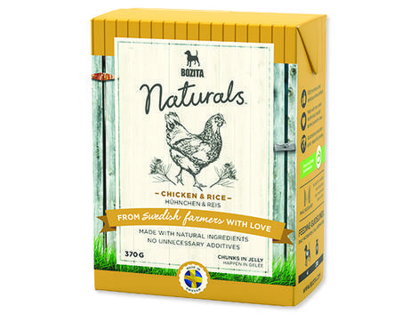 BOZITA Naturals BIG Chicken / Rice - Tetra Pak 370g