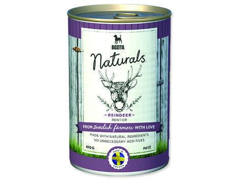 BOZITA Naturals konzerva Reindeer 410g