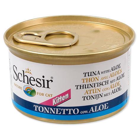 Konzerva SCHESIR Kitten tuňák + aloe 85g